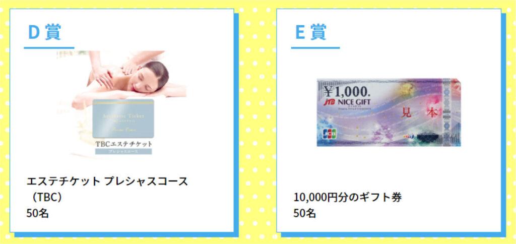 D賞、E賞画像