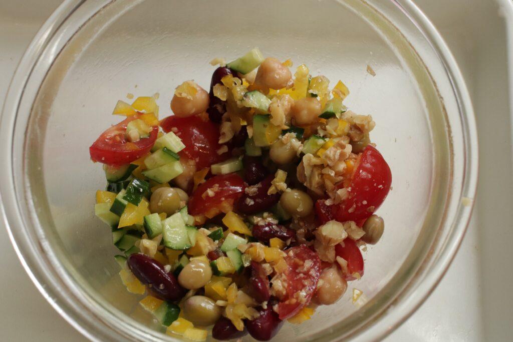 「簡単カフェごはん♪ブラウンライスサラダ」作り方2