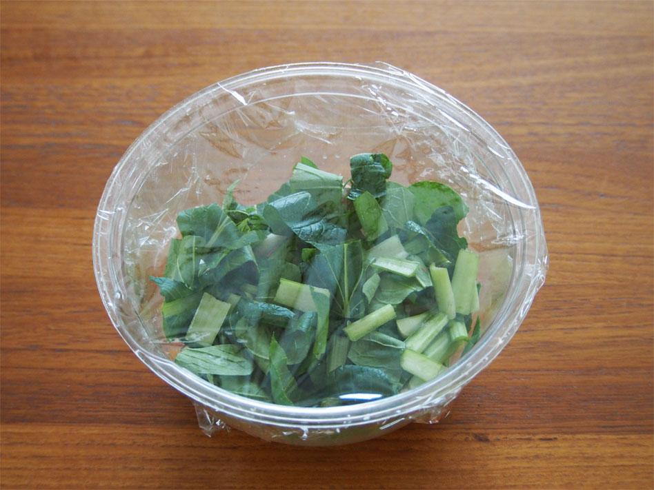 「レンジで時短!豚肉と野菜のうま塩あんかけ丼」作り方画像2