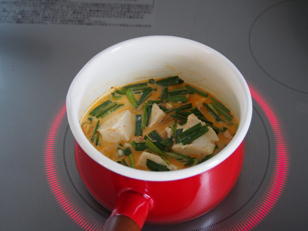 「簡単ヘルシー!豆乳キムチの玄米スープ」作り方2