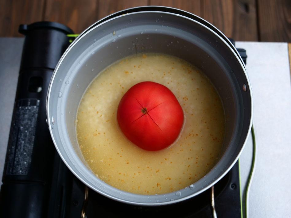 「豪快!丸ごとトマトの炊き込みピラフ」作り方2画像