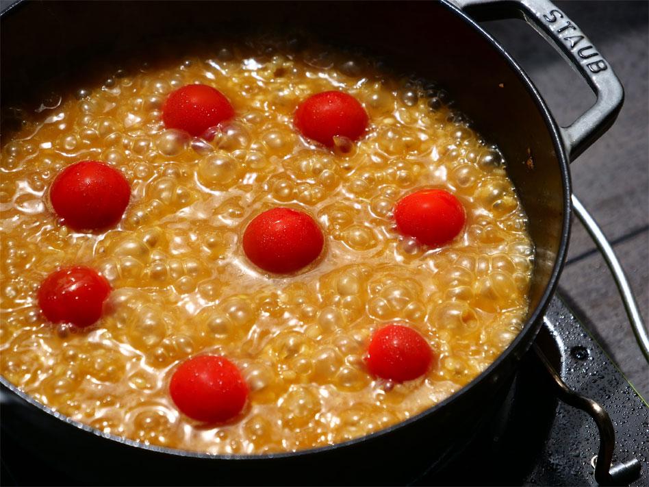 「お手軽キャンプ飯!玄米で作るステーキパエリア」作り方5画像