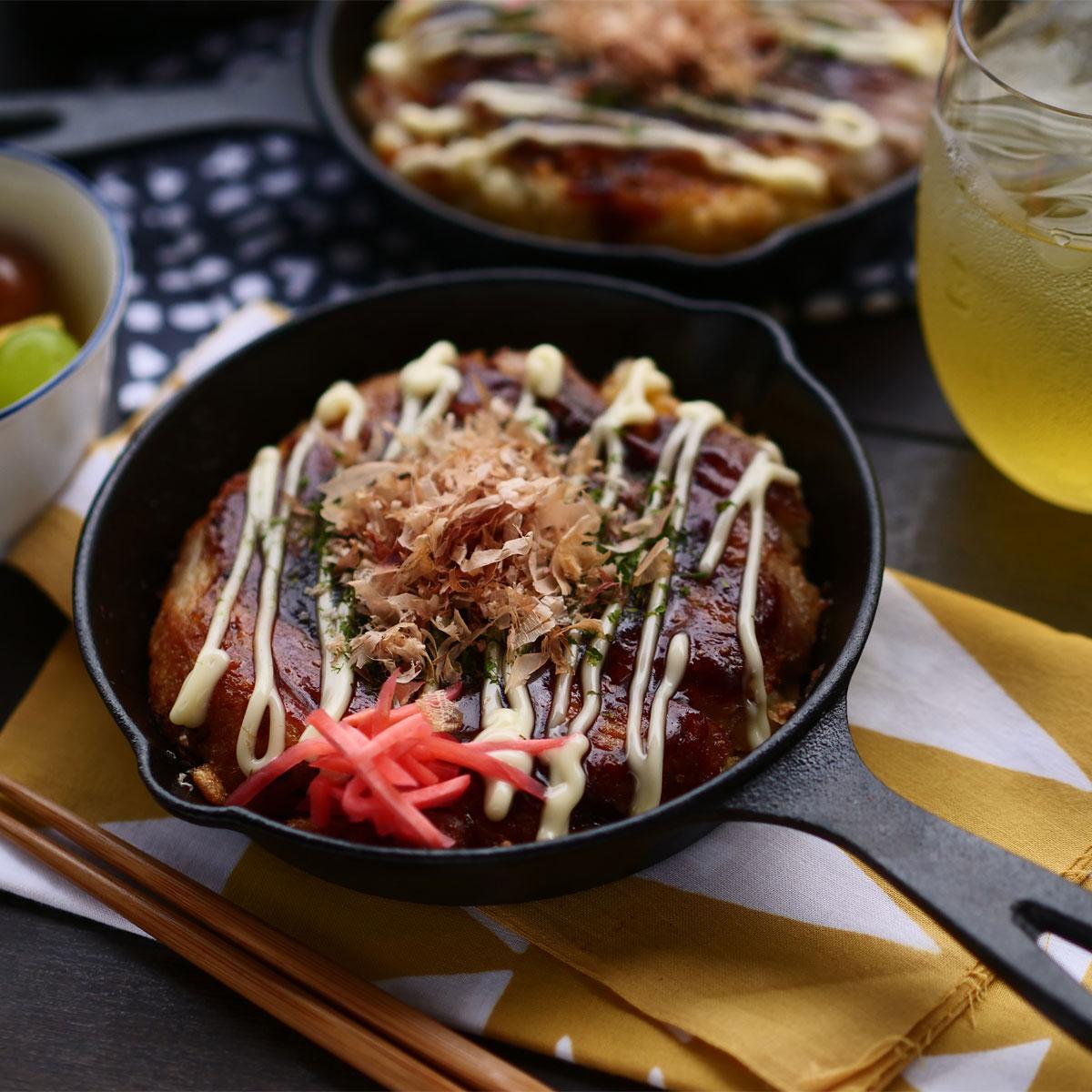「ご飯でお好み焼き⁉金芽米で作るお好み焼き風」画像