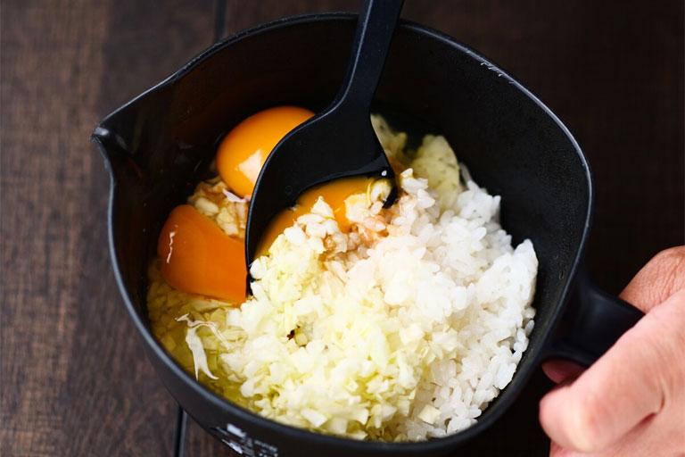 「ご飯でお好み焼き⁉金芽米で作るお好み焼き風」作り方1画像