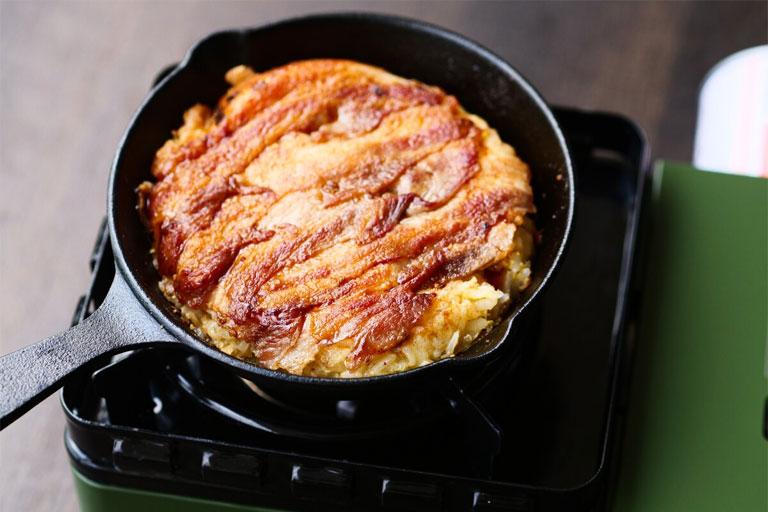 「ご飯でお好み焼き⁉金芽米で作るお好み焼き風」作り方3画像